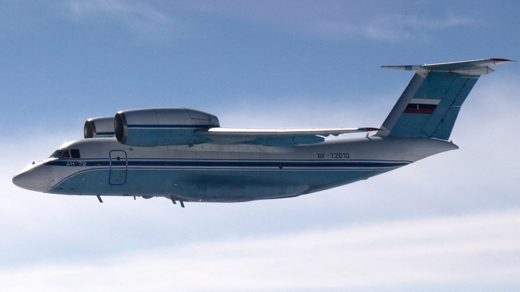 ilmatilaloukkaus-venaja-havittaja-antonov-an-72-stol-kuljetuslentokone