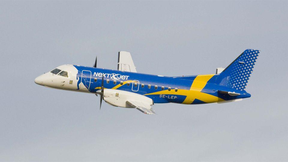 nextjet+ruotsalainen+lentoyhtiö+lentokone