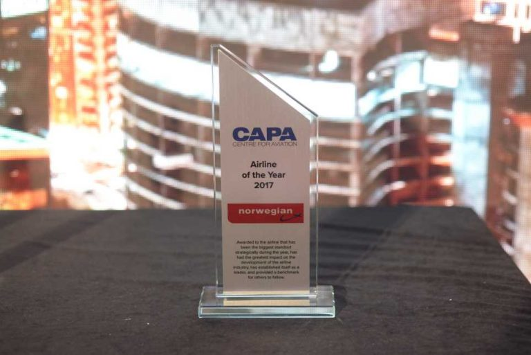 CAPA - Airline of the year trophy
